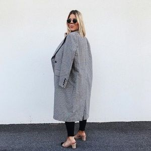 Oversized plaid coat // H&M